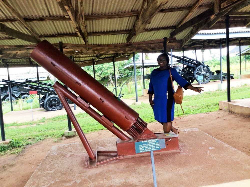 Locally fabricated Biafran weapons
