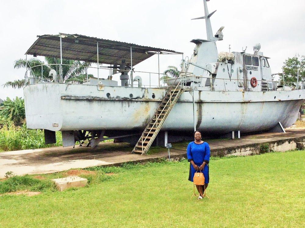 The Nigerian military war tank