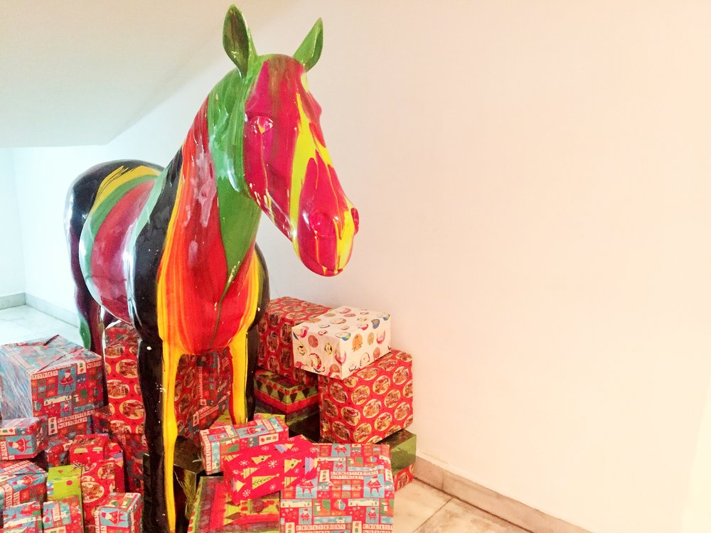 Gladys got a lot of gift. Yes, the owner of the hotel named her Gladys. Nice :)