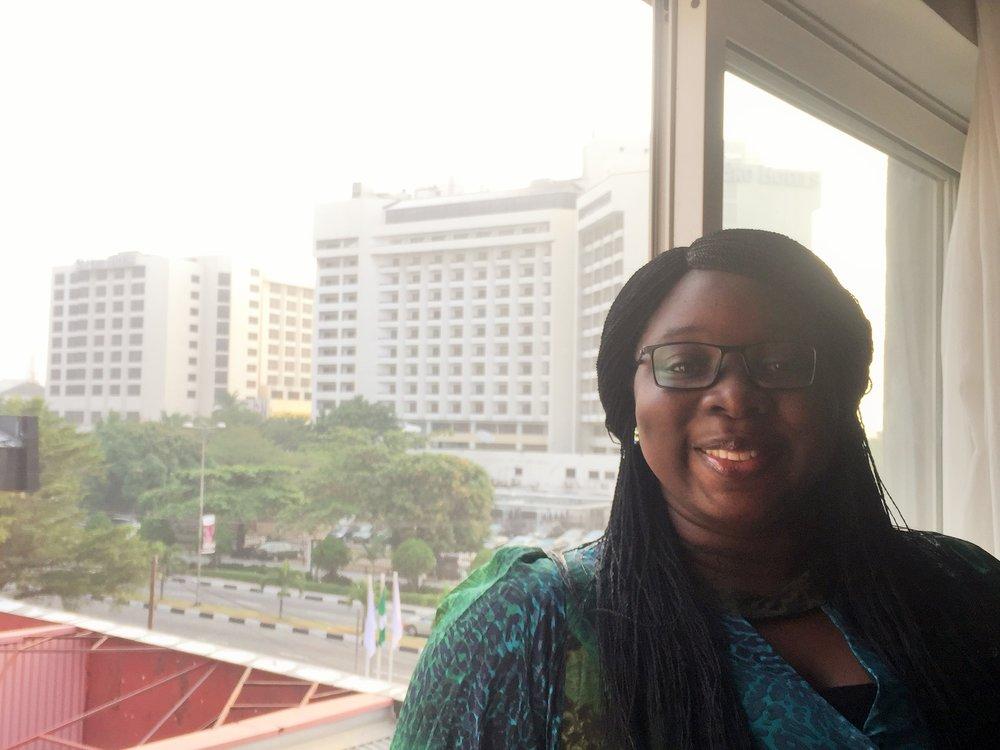 The room view was Eko hotel