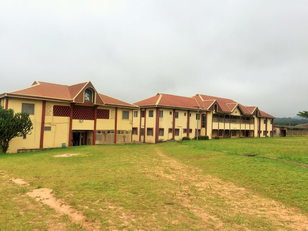 Awhum waterfalls and caves |  The administrative buildings
