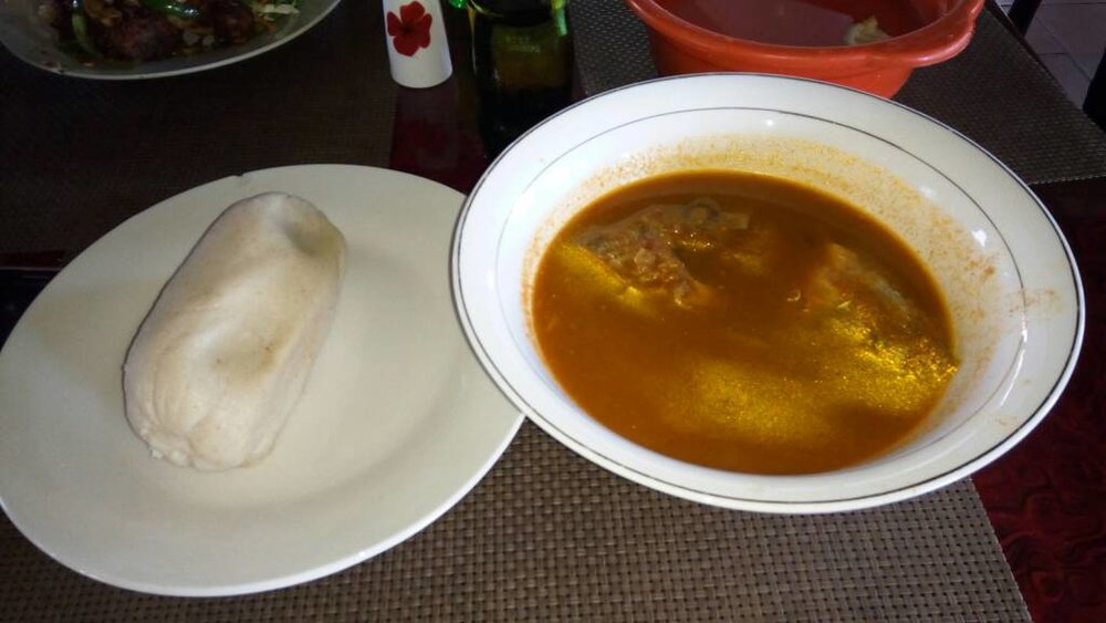 Light soup and Banku