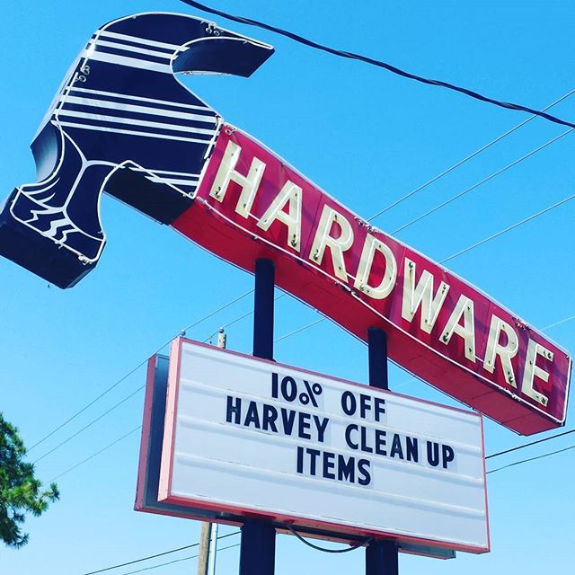 We are here to help! 10% off everything Harvey-related. We can get through this ya'll!  Much love from the Big Hammer.  #friendswoodhardware #thebighammer #harvey #discount #help #friendswood #pearland #houston #alvin #dickinson #leaguecity #santafe #texas #texasstrong