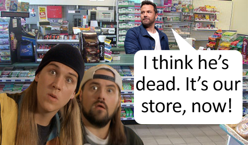 - You voted and we listened!In this episode of SPOILERS' DIGEST- Joe guesses what happens in the Kevin Smith cult classic movie, Clerks. He's not impressed.