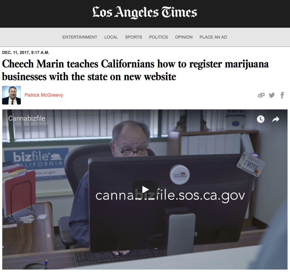 LA TIMES ARTICLE AND VIDEO |  click here  to read full article