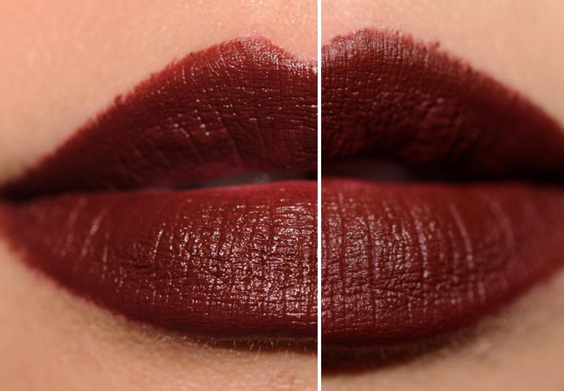 LEFT: MAC Deep Love Lipstick  RIGHT: Anastasia Matte Lipstick in Rust, $18   Ulta.com