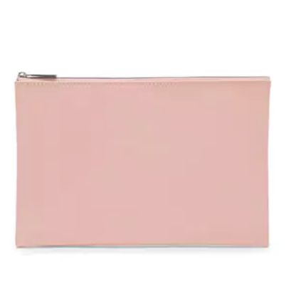 Faux Patent Leather Makeup Bag, $6.90    Forever21.com