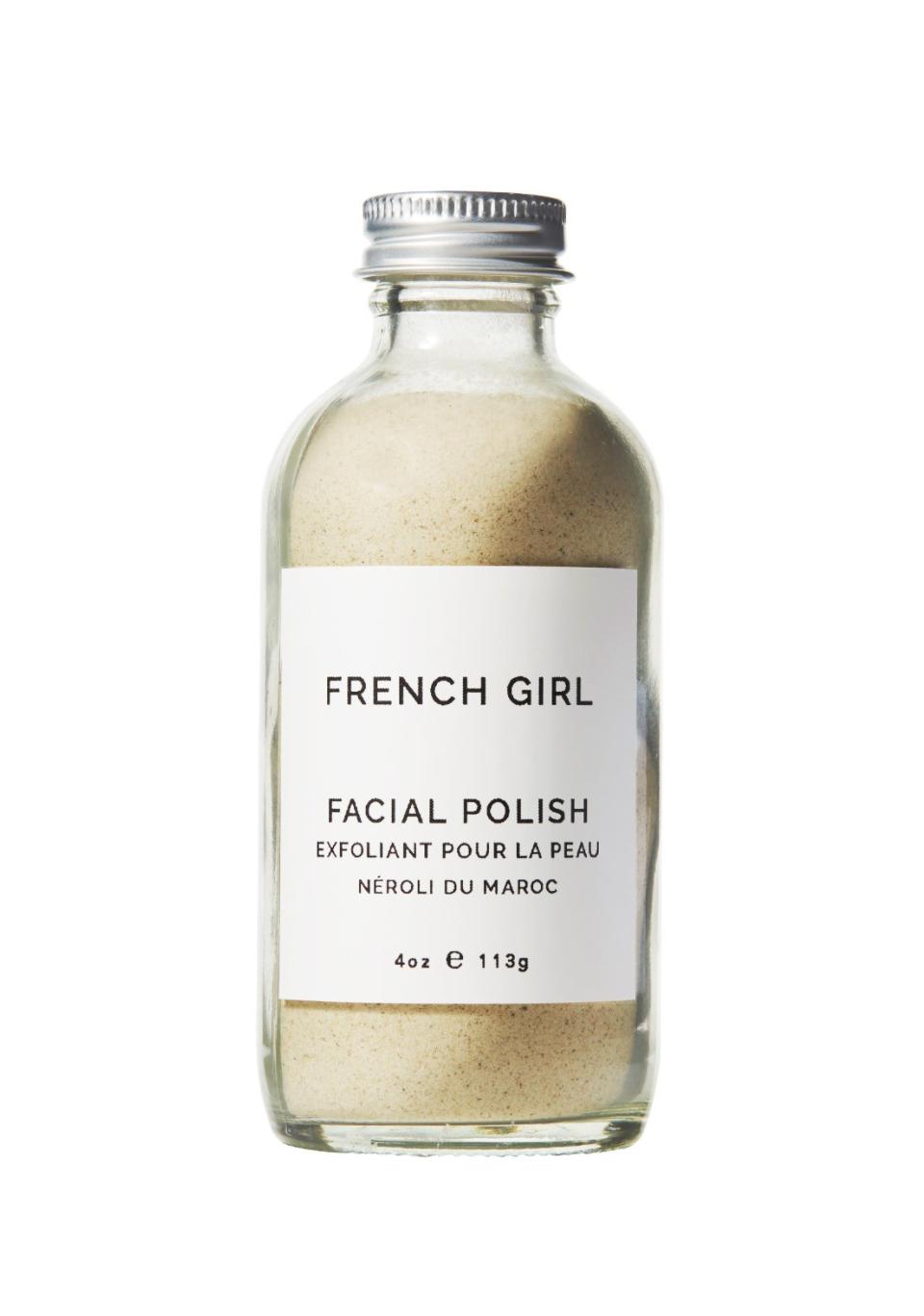 French Girl Organics Facial Polish, $22-$38   FrenchGirlOrganics.com