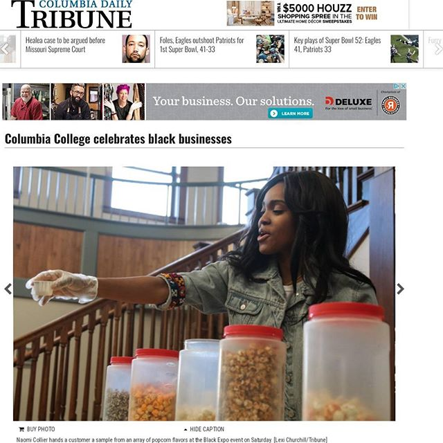 What a weekend! So many influential black-owned businesses in Missouri connected on Saturday. It was a privilege to participate in this inaugural event! Thank you for featuring us in these recap stories @columbiadailytribune @komunews 🍿  http://www.columbiatribune.com/news/20180203/columbia-college-celebrates-black-businesses  http://www.komu.com/mobile/story.cfm?id=92644-columbia-college-black-expo-kicks-off-its-black-history-month-celebration&video