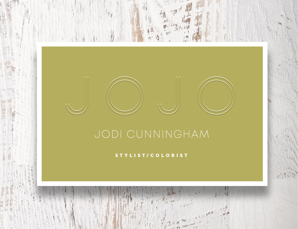 Jodi's new business cards have her name/logo embossed with a new embossing ink.