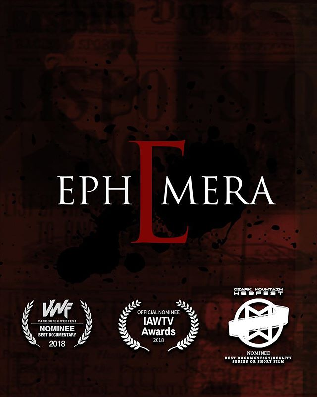The award nominated series 'Ephemera' will be back for new episodes in 2019! Just wait until you feast your eyes on these pieces of strange untold history. #webseries #strangehistory #macabre