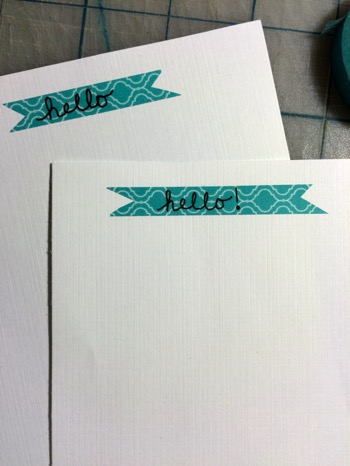 52 Weeks of Mail Week 2 DIY Stationary Notecard 1 with washi tape