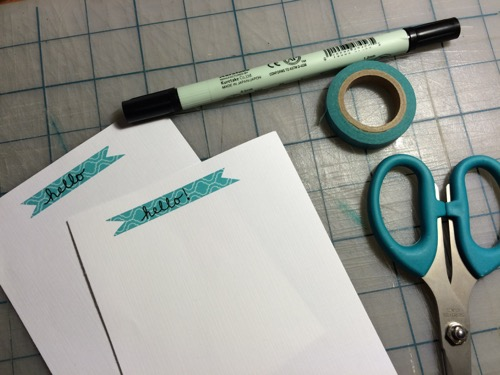 52 Weeks of Mail Week 2 DIY Stationary Notecard 2 with washi tape