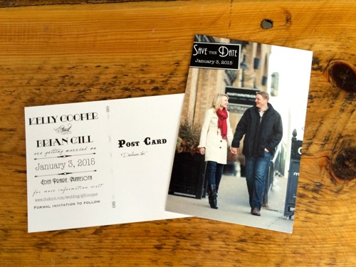 Vintage Post Card Save the Date 5