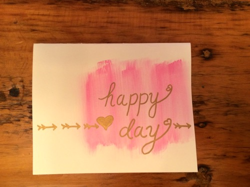 52 Weeks of Mail: Week 6 Watercolor Valentine's Day Cards 3
