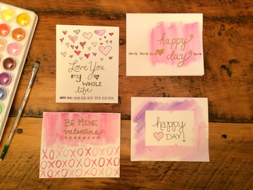 52 Weeks of Mail: Week 6 Watercolor Valentine's Day Cards 5