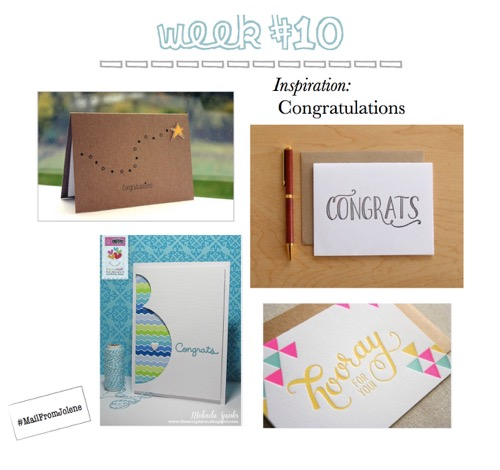 52 Weeks Of Mail-Week 10 Congratulations Card Inspiration