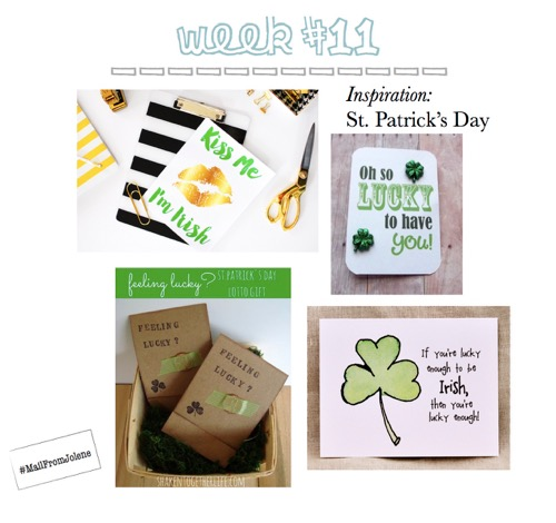 52 Weeks Of Mail-Week 11 Inspiration St. Patrick's Day