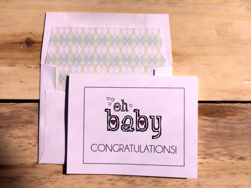 52 Weeks of Mail- Week 10 Congratulations Cards Baby and Banners_2290_2