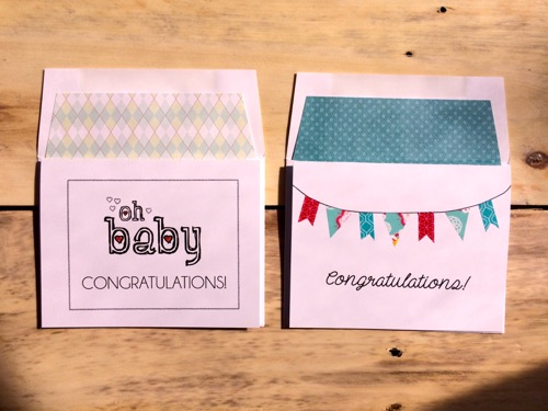 52 Weeks of Mail- Week 10 Congratulations Cards Baby and Banners_2298