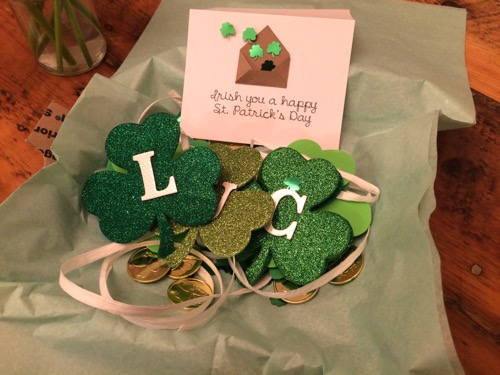 52 Weeks of Mail- Week 11 St. Patrick's Day 1 Card and Lucky Banner