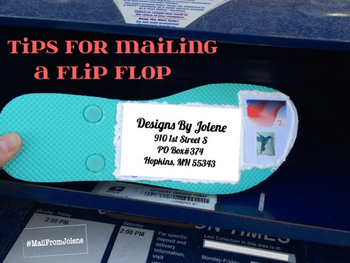 52 Weeks of Mail: Week 12- mail a flip flop- Tips for Mailing a Flip Flop