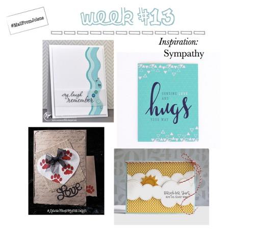 52 Weeks of Mail- Week 13 Inspiration Sympathy