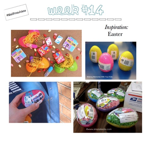 52 Weeks Of Mail-Week 14 Inspiration Mail Plastic Easter Eggs