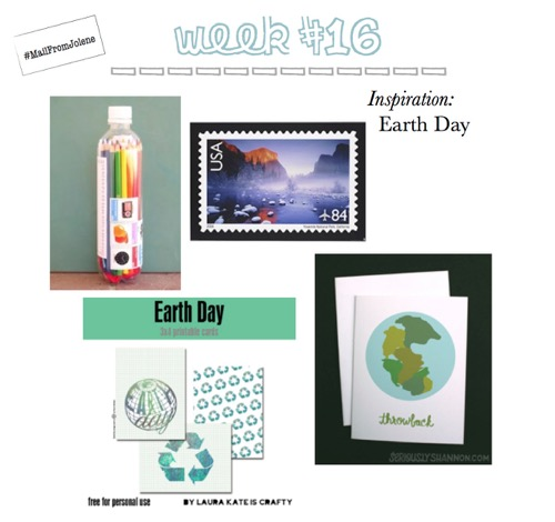 52 Weeks Of Mail-Week 16 Inspiration Earth Day