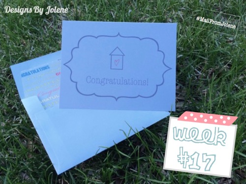 52 Weeks of Mail: Week 17 | Congrats: New Home