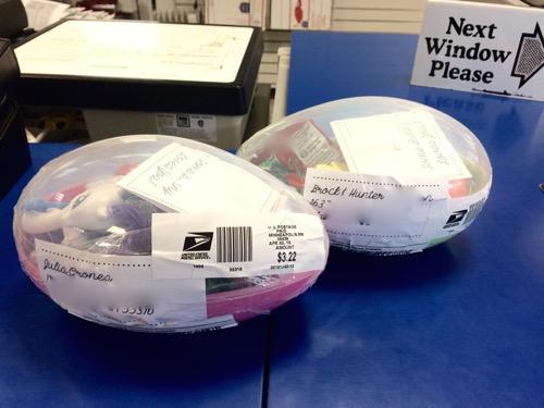 52 Weeks Of Mail- Week 14 Feature Photo Plastic Easter Eggs