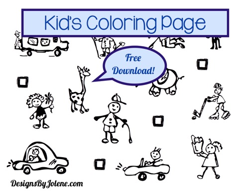 Kids Color Page Free Download
