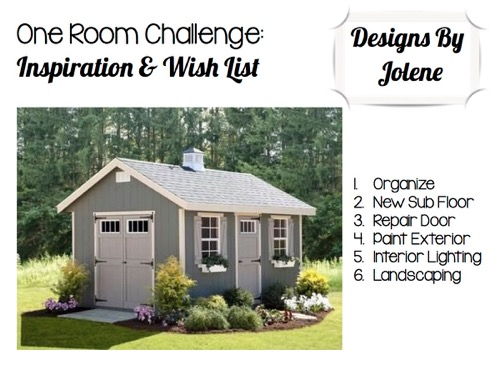 One Room Challenge:-Week 1- Shed Makeover Inspiration and Wish List