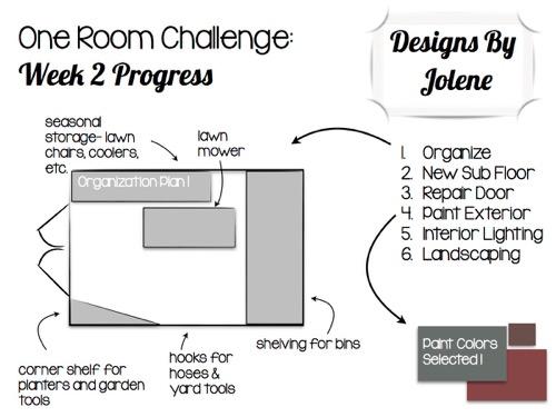 One Room Challenge-Week 2- Shed Makeover Progress 1