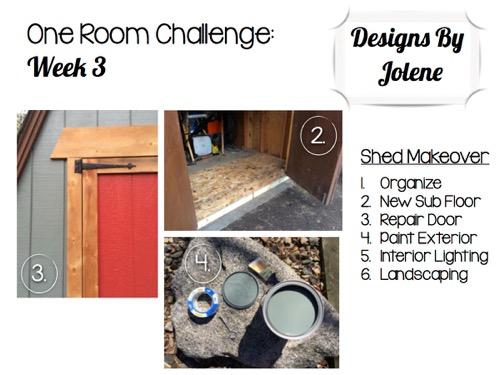 One Room Challenge: Week 3 Shed Makeover Progress 12