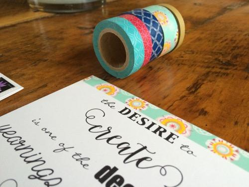 52 Weeks of Mail: Week 19 Washi Tape Art