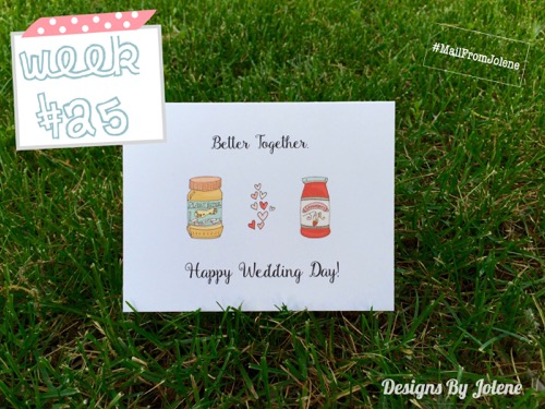 52 Weeks Of Mail- Week 25 Feature Photo | Wedding Wishes