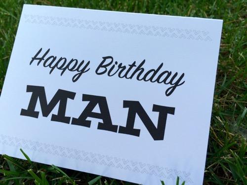 52 Weeks of Mail: Week 24 Birthday Cards 7 Man