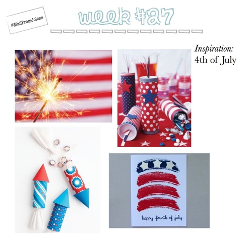 52 Weeks Of Mail-Week 27 Inspiration 4th of July