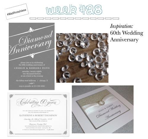 52 Weeks Of Mail-Week 28 Inspiration 60th Wedding Anniversary