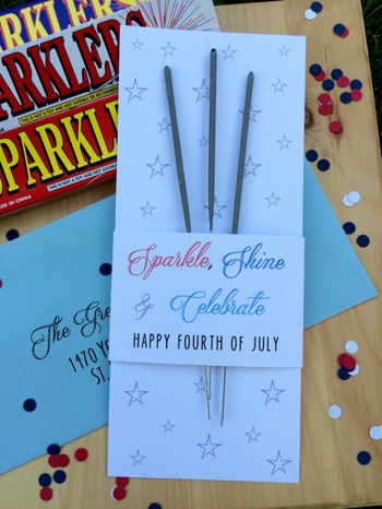 52 Weeks of Mail: Week 27   4th of July Sparkler Mail 3