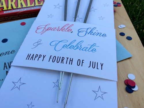 52 Weeks of Mail: Week 27   4th of July Sparkler Mail 4