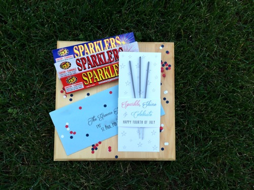 52 Weeks of Mail: Week 27   4th of July Sparkler Mail 5