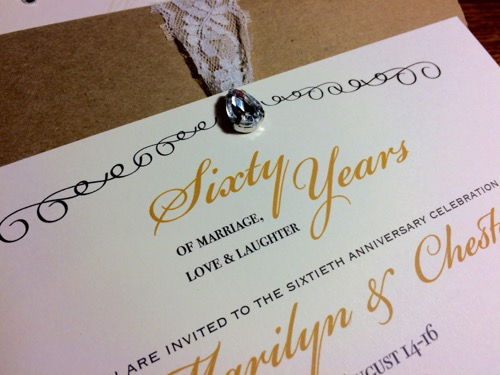 52 Weeks of Mail: Week 28   60th Wedding Anniversary Invitation 4