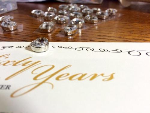 52 Weeks of Mail: Week 28   60th Wedding Anniversary Invitation 5 Diamonds