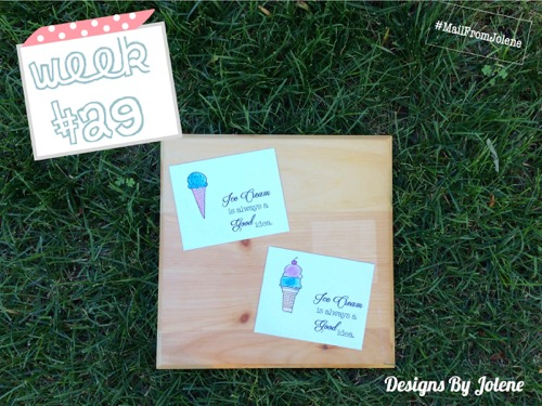 52 Weeks of Mail: Week 29 National Ice Cream Day 4