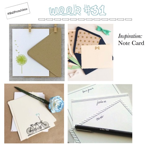 52 Weeks Of Mail-Week 31 Inspiration Note Card