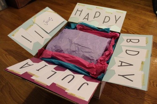 52 Weeks Of Mail- Week 32 Feature Photo | Birthday Box Frozen Theme