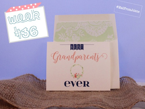 52 Weeks Of Mail- Week 36 Feature Photo | Grandparents Day