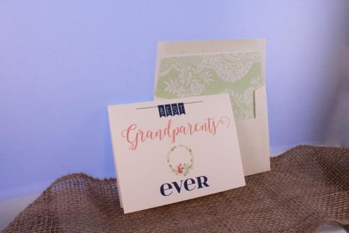 52 Weeks of Mail: Week 36 Grandparents Day Card 1
